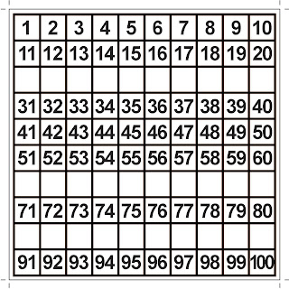 Mama Love Print 自製工作紙  - Number 1 - 100 Grid Sequencing Worksheets Activity 數字1-100 次序方框訓練活動  Kindergarten Math Worksheet Free Download