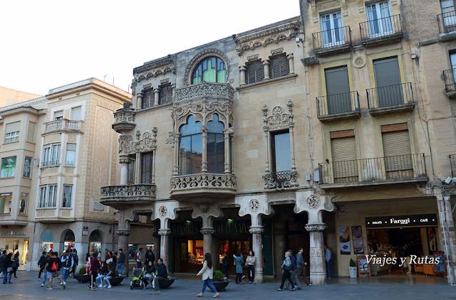 casa Navás, plaza del Mercadal, Reus