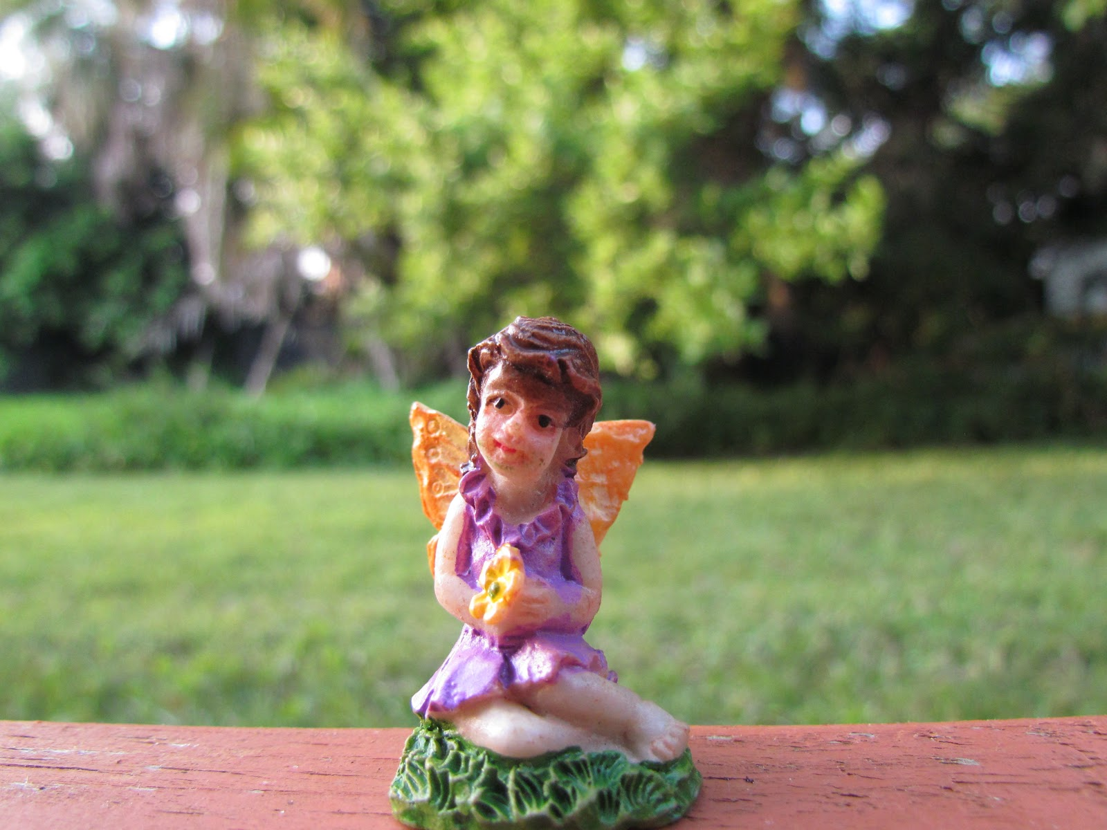 Woodland-Themed Fairy Statues to Attract Real-Life Fairies to Your Flower Garden in Florida Wilderness