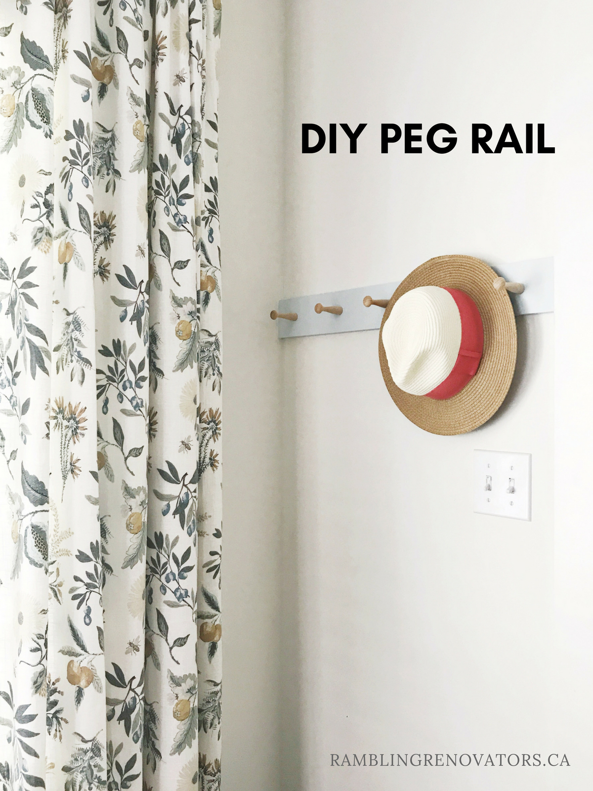 diy shaker peg rail, ramblingrenovators.ca