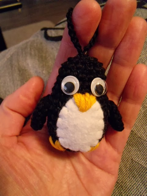 Twee Steekjes Los Pinguin Sleutelhanger Patroon