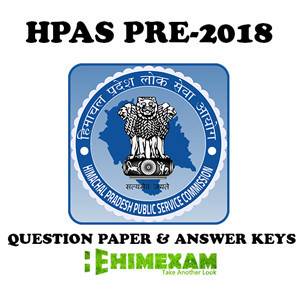 HPAS pre 2018 question paper