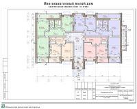 Проект многоквартирного жилого дома в г. Кинешма Ивановской области. 2-й этап строительства. Архитектурные решения - План 1-го этажа