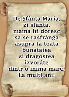 mesaje de onomastica Sf Maria pentru mama