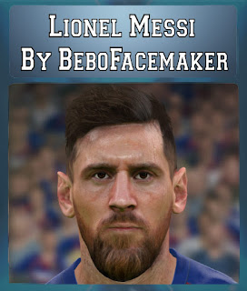 PES 2017 Faces Lionel Messi by Bebo