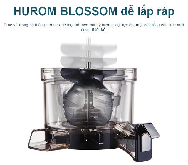 Máy ép chậm - HUROM BLOSSOM, HUROM BLOSSOM dễ lắp ráp mua tại lgvietnam.top
