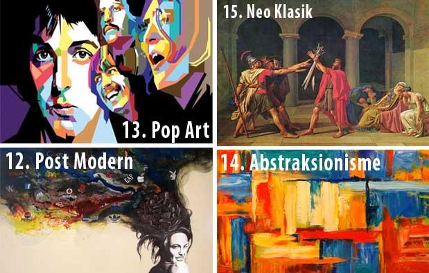 Dalam dunia seni musik kita sanggup menemukan bermacam-macam jenis fatwa musik yang mirip dangdut 15 Aliran Seni Rupa, Ciri, Contoh Gambar, dan Tokohnya