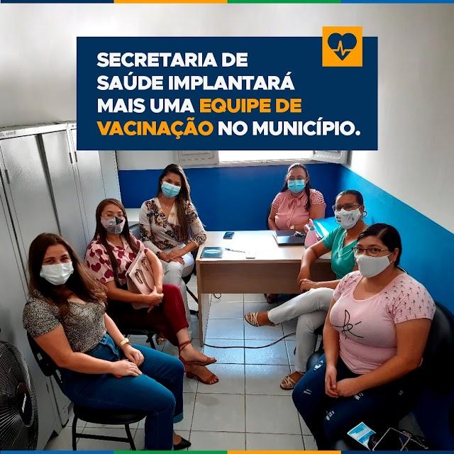 Secretaria de saúde implantará mais uma equipe de vacinação