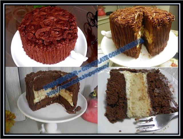 BOLO CHOCOLATE COM BAUNILHA; BUTTERCREAM DE CHOCOLATE; Calda de cítrica para bolo; sobremesa chocolate e baunilha.