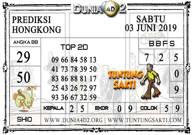"""Prediksi Togel """"HONGKONG"""" DUNIA4D2 03 JUNI 2019"""