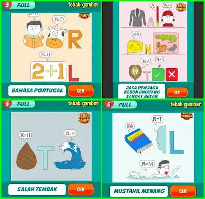 Jawaban tebak gambar level 61 nomor 9-12