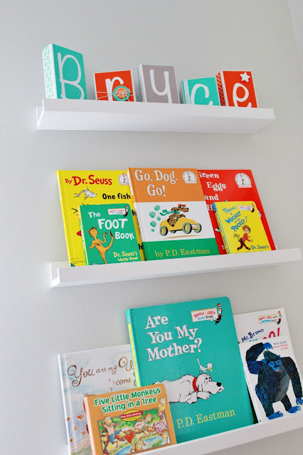 nursery book ledge