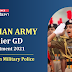 Indian Army Soldier GD Online Form 2021 | Last Day to Apply for Women Military Police