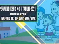 Permendikbud No 1 Tahun 2021 Tentang PPDB Jenjang TK, SD, SMP, SMA, dan SMK