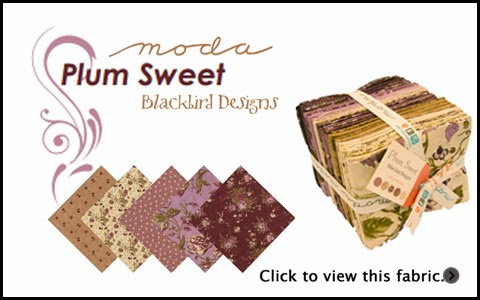 Moda PLUM SWEET Quilt Fabric by Blackbird Designs for Moda Fabrics