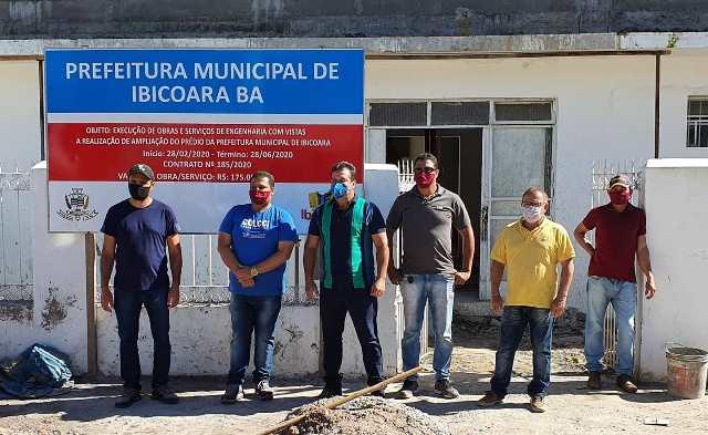 Prefeito de Ibicoara Haroldo Aguiar e Deputado Marquinho Viana visitam obras no município
