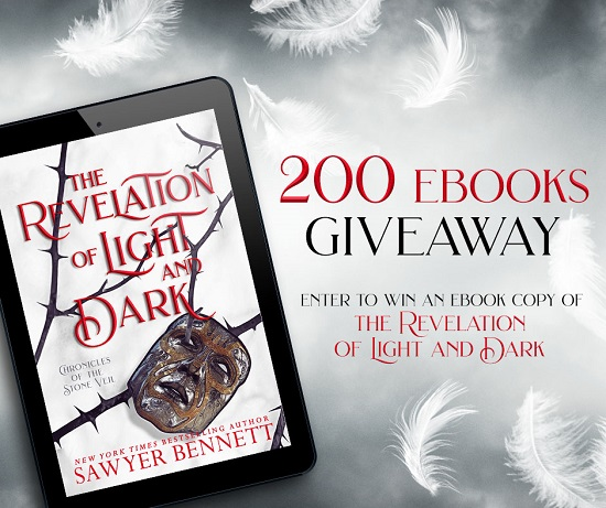 200 Ebooks Giveaway. Enter to win an ebook copy of The Revelation of Light and Dark.