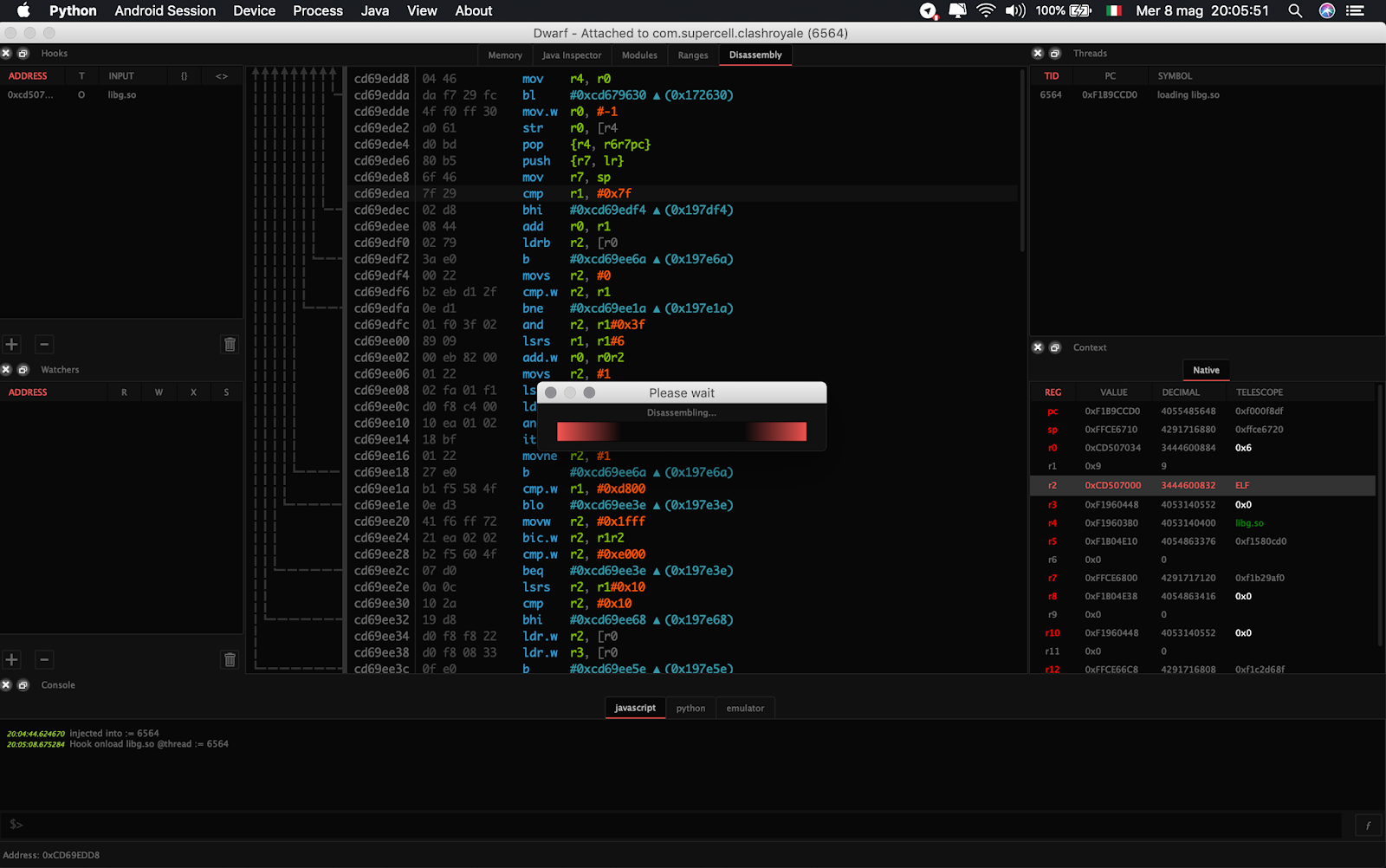 Dwarf - Full Featured Multi Arch/Os Debugger Built On Top Of