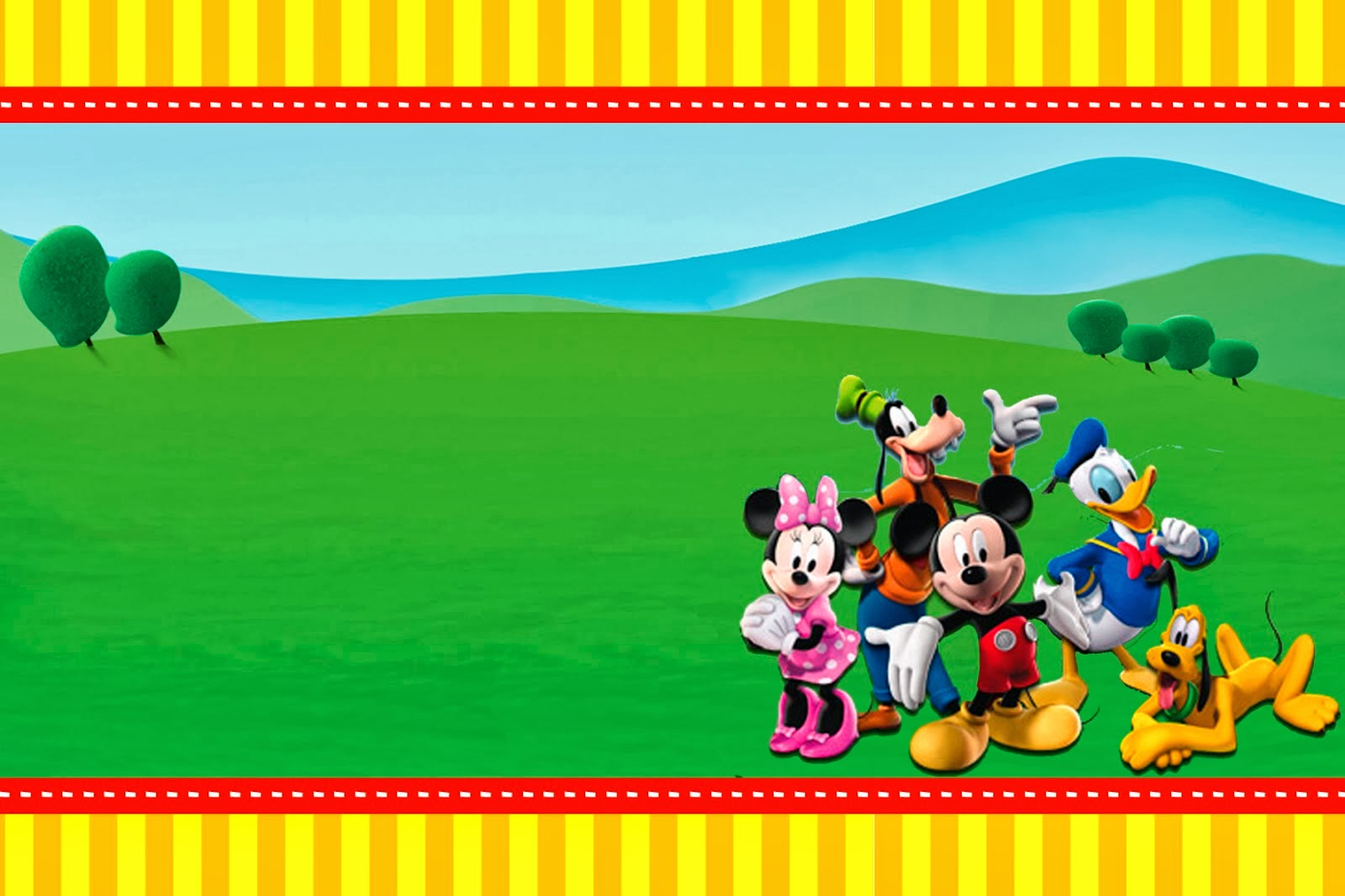 Mickey Clubhouse Invitations and Party Free Printables Oh My