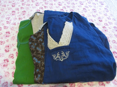 Three new to me blouses