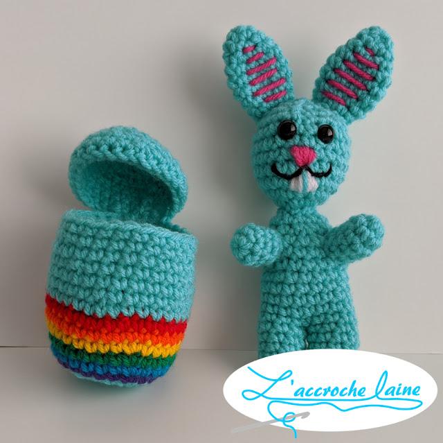 L'accroche laine - Coco et Choupi le lapin