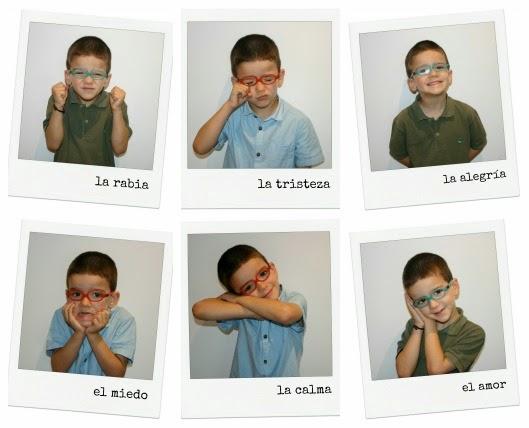 collage niños ensenyar emociones