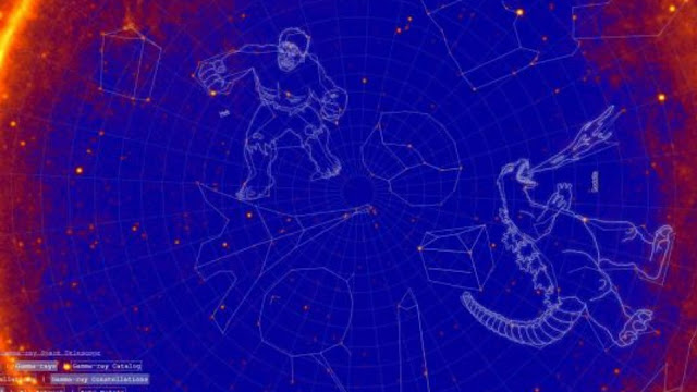 The new constellations named by NASA are Godzilla, The Hulk and Doctor Who TARDIS.
