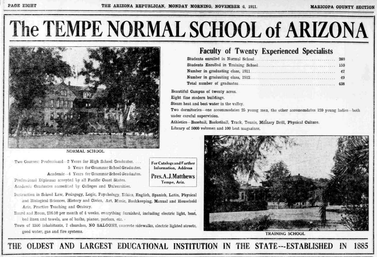 History Adventuring: When Arizona State University was the