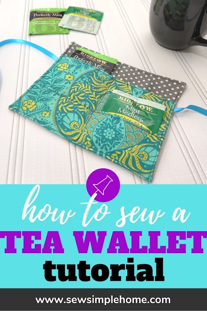 Transport your favorite teas in your bags or purse with this free diy tea wallet pattern.