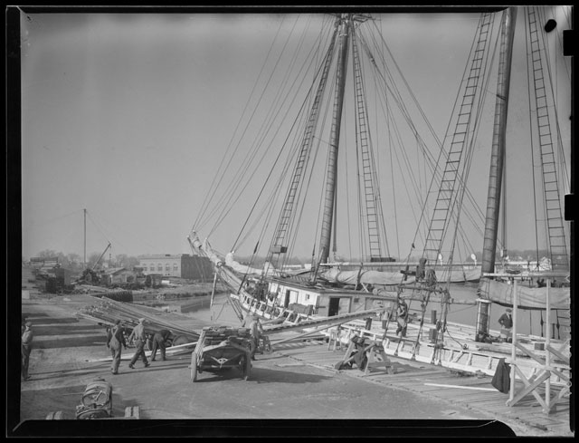 Sailing vessels in Boston Harbor, 25 March 1942 worldwartwo.filminspector.com