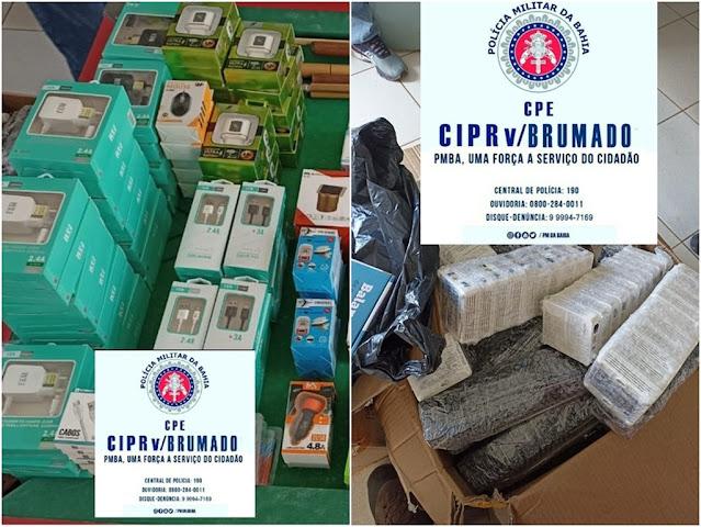 Polícia Rodoviária Estadual apreende produtos eletrônicos sem nota fiscal em Brumado