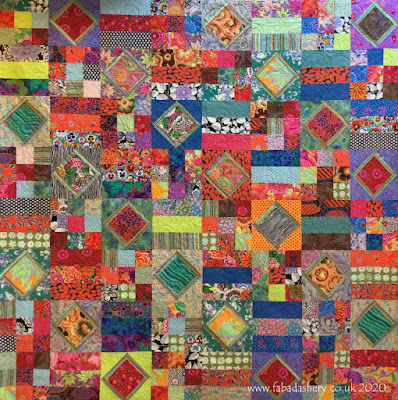 Dazzling Kaffe Fabric quilt made by Jennie,  quilted by Fabadashery Longarm Quilting