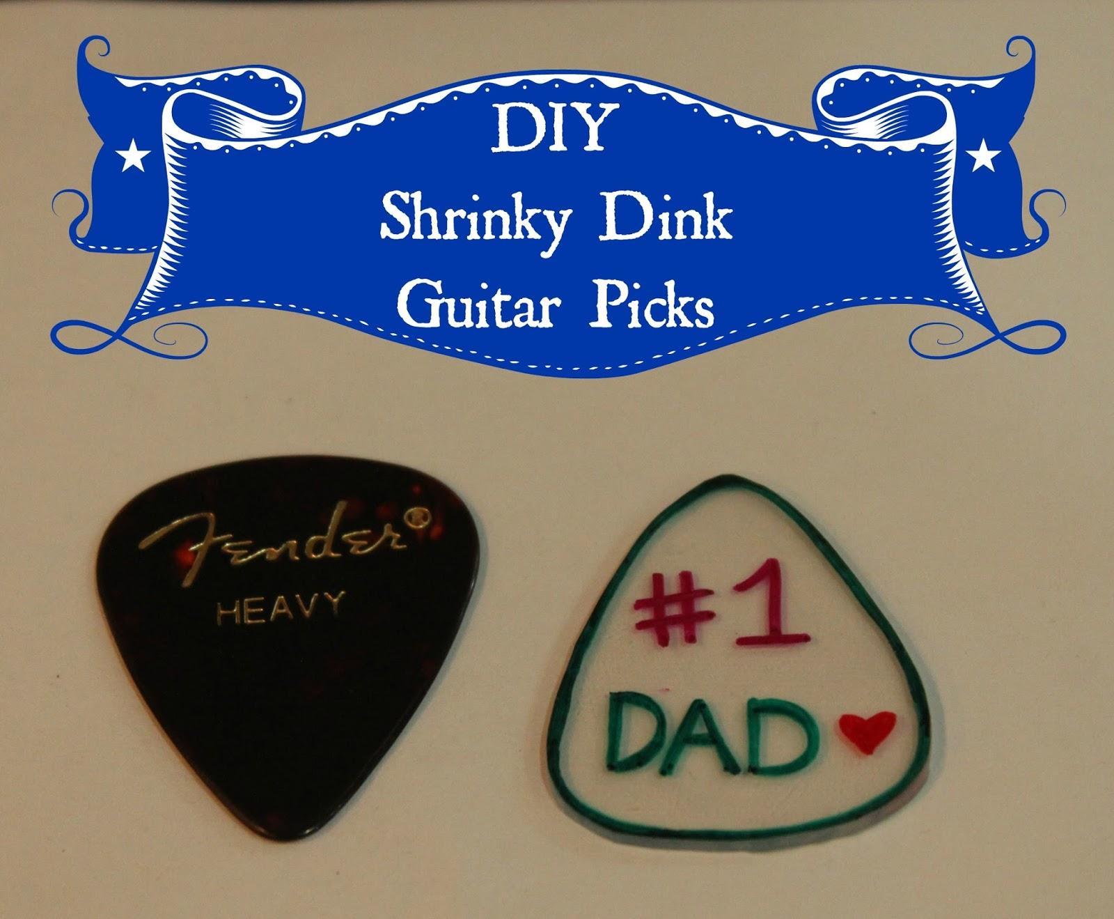 keeping up with the kiddos diy guitar picks. Black Bedroom Furniture Sets. Home Design Ideas