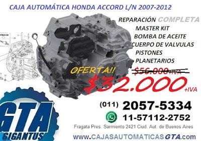 RECAMBIO DE CAJA AUTOMÁTICA HONDA ACCORD 2007 AL 2012