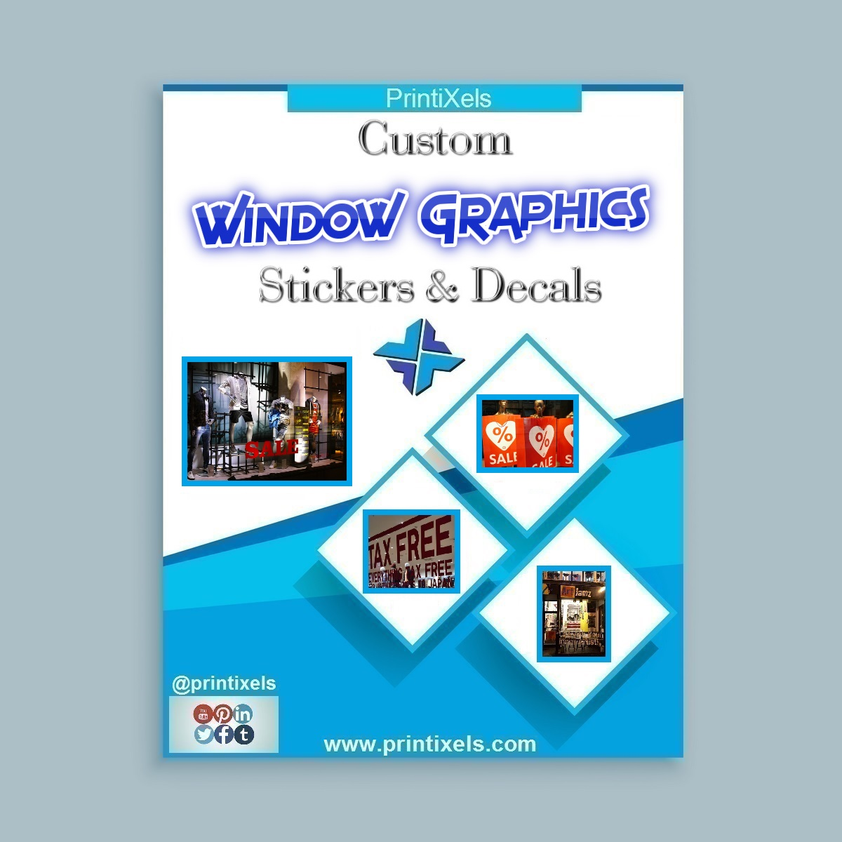Custom window graphics stickers decals
