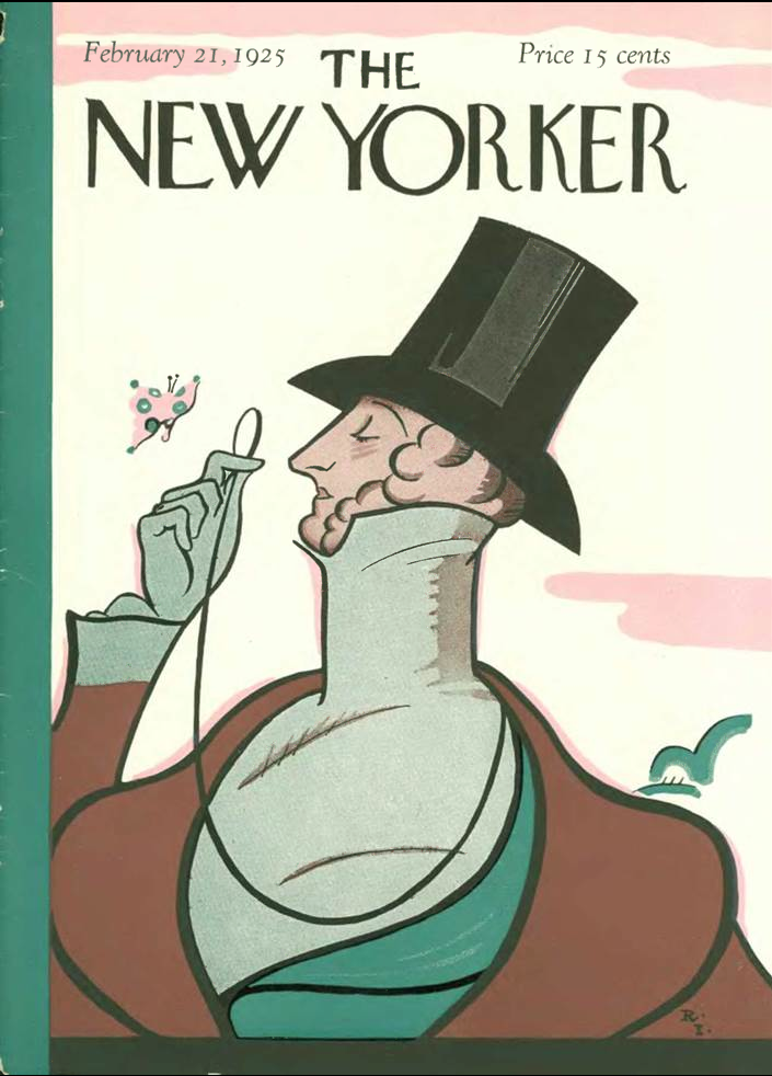 Eustace Tilley Celebrates 72nd Birthday >> Attempted Bloggery Rea Irvin And Al Hirschfeld Harold Ross As