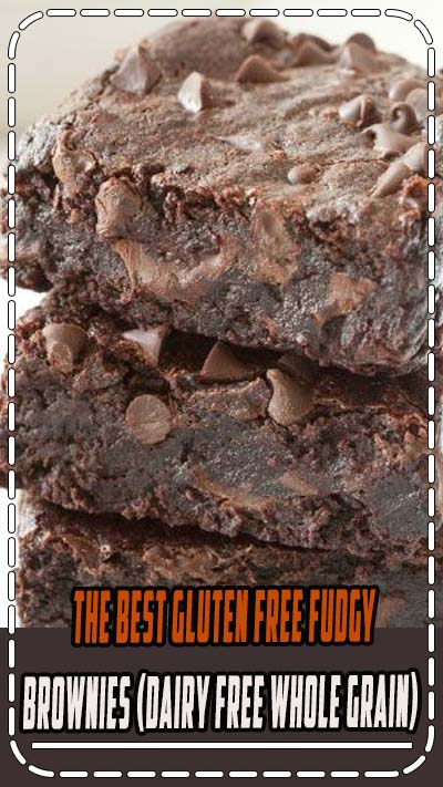 The Best Gluten-free Brownies (100% whole grain, dairy-free, naturally sweetened). Can also be made with whole wheat! #glutenfree #brownies #chocolate #dairyfree #dessert #recipe