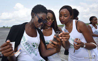 See Beauty Queens from 30 African countries That arrived Calabar for Miss Africa (Photos)