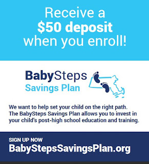 BabySteps Savings Plan is the first universal educational savings program of its kind in MA