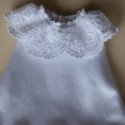 Lace on neckline