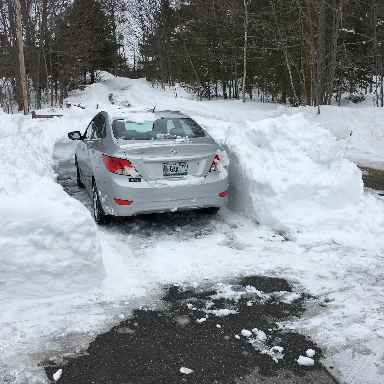 4 feet of snow in one week in Maine, Dayana Knits blog
