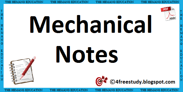 Mechanical Engineering Hand Written Notes