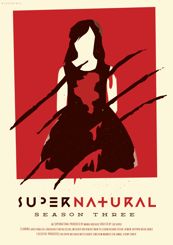 Risa Rodil. Supernatural Reimagined Season Posters. Doctor Ojiplático