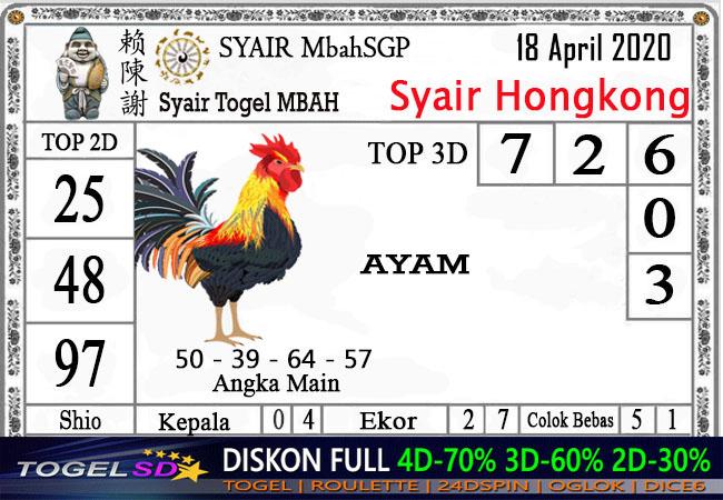 Prediksi HK 18 April 2020 - Mbah Syair HK