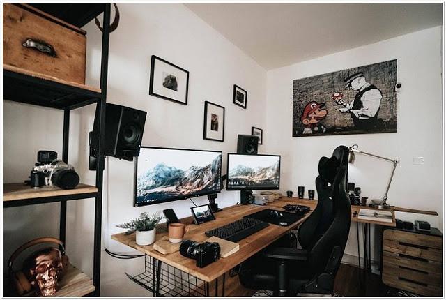 Ruang kerja minimalis;Ruang Kerja, Desain dan Tampilan yang Menarik;