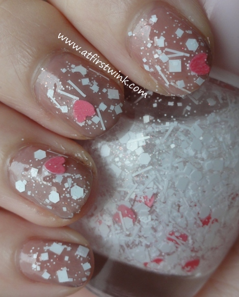 Snow of Love nail polish from the Etude House If story nail kit 3