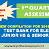 1st Quarterly Assessment Test Bank for Elem, Junior HS and Senior HS