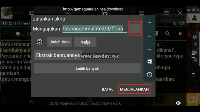 Download Script Free Fire V1.3.02 Terbaru