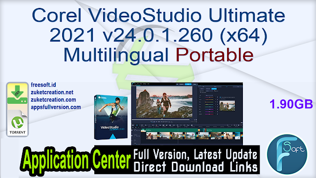 Corel VideoStudio Ultimate 2021 v24.0.1.260 (x64) Multilingual Portable