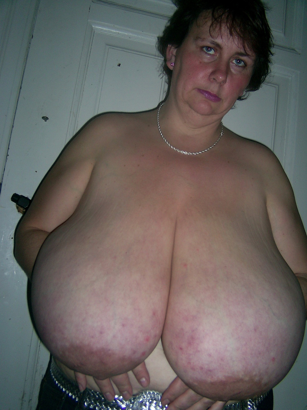 Old woman with big tits